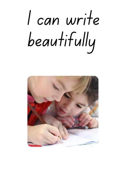 Handwriting booklet